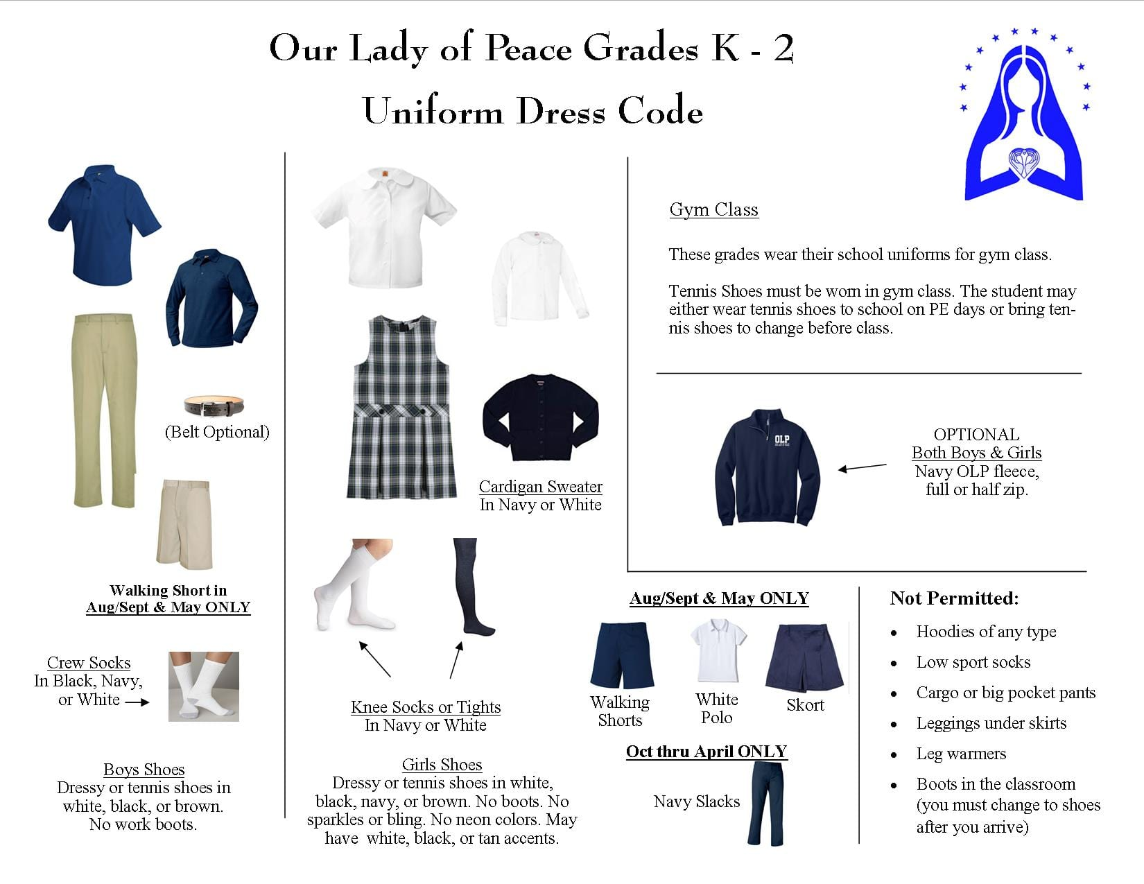 Kindergarten Pages | Our Lady of Peace School
